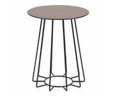 Tavolino Casia S in vetro laccato bronzo