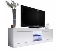 Mobile porta TV Basic M con 2 ante in bianco lucido