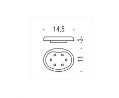 PORTA SAPONE MELO' RICAMBI B1251 PER art. B1201; B1201C; B1240 VETRO ACIDATO NATURAL