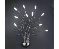 Fratelli Braga Applique fb-faville 538 a10 g4 12v alogena bracci modellabili cromati lampada