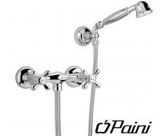 Paini Rubinetteria Paini gruppo doccia esterno con doccetta Duplex Liberty 17CR509