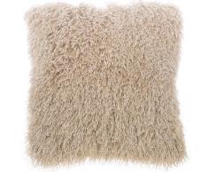 Cuscino di pelliccia beige 45 x 45 cm CIDE