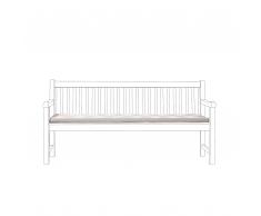 Cuscino per panchina da giardino TOSCANA/JAVA grigio beige zigzag 169x50x5cm