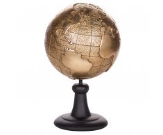Statuetta decorativa a forma di globo in color oro EARTH