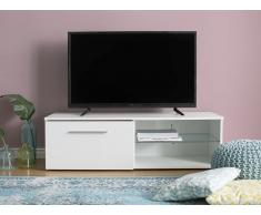 Mobile Tv bianco con illuminazione LED SELFOSS