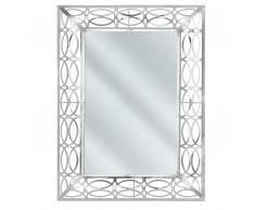 Specchio da muro 80 x 60 cm in color argento MALPAS