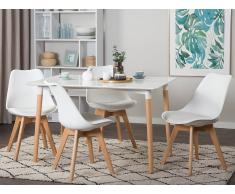 Tavolo da pranzo bianco 120 x 80 cm FLY