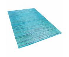 Tappeto azzurro in cotone - 140x200cm - MERSIN