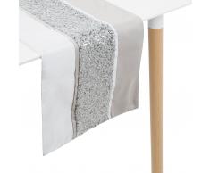 Runner da tavolo argento 35 x 180 cm HAFIK