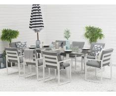 Set da giardino tavolo e 8 sedie in alluminio PANCOLE
