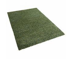 Tappeto shaggy rettangolare in tessuto verde - 200x300cm - OREN
