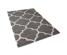 Tappeto rettangolare grigio - Tappeto moderno di design - 80x150 cm - YALOVA