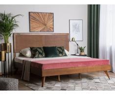Letto a doghe in legno marrone scuro 180 x 200 cm ISTRES