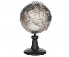 Statuetta decorativa a forma di globo in color argento EARTH