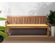 Cuscino per panchina da giardino TOSCANA/JAVA giallo geometrico 169x50x5cm