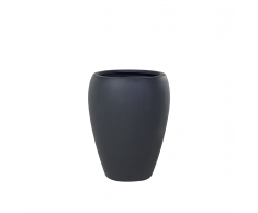 Vaso da fiori moderno in vetroresina nera - 46x46x67cm - NESS