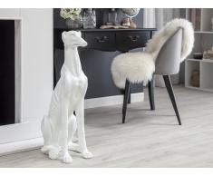 Figura statuetta decorativa bianca 80 cm GREYHOUND
