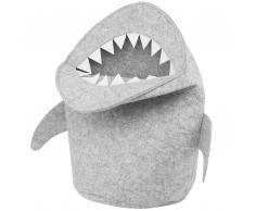Cesta di feltro color grigio chiaro SHARK