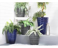 Set di 2 vasi per piante color blu mare FERIZA