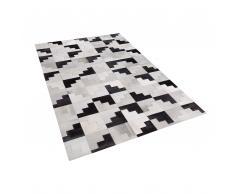 Tappeto in pelle nero / grigio 160 x 230 cm EFIRLI