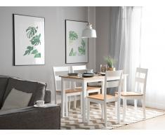 Tavolo da pranzo in legno marrone/bianco 114 x 68 cm GEORGIA