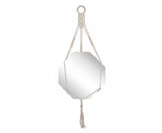 Specchio da muro cotone beige 100 x 40 cm PATNA