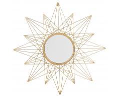 Specchio da parete tondo color oro ø91cm PANON