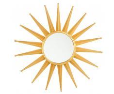 Specchio da parete color oro ø60 cm PERELLI