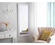 Specchio da parete in color bianco/argento 50 x 130 cm VERTOU