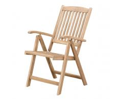 Sedia da giardino regolabile in legno RIVIERA
