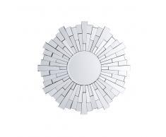 Specchio da parete in argento ø70 cm VIRE