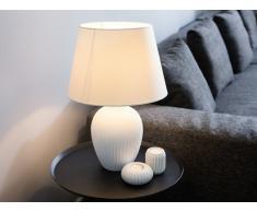 Lampada da tavolo in ceramica in color bianco FERGUS