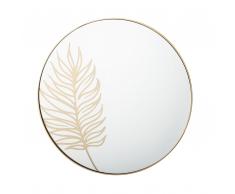 Specchio da parete ø 57 cm in color oro MADURA