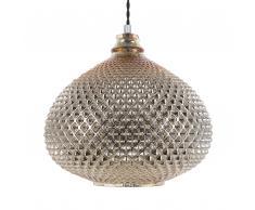 Lampadario in vetro color oro MADON