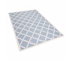 Tappeto rettangolare azzurro - Tappeto moderno di design - 140x200cm - DALI