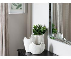 Vaso di fiori decorativo bianco LINZI