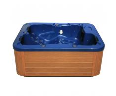 Vasca idromassaggio da esterno per 4 persone colore blu LAGOON