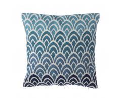 Cuscino decorativo in cotone motivo gradiente 45 x 45 cm blu