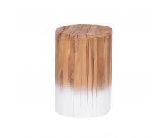 Comodino in legno di teak chiaro/bianco MOVAS