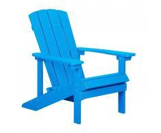 Sedia da giardino blu ADIRONDACK