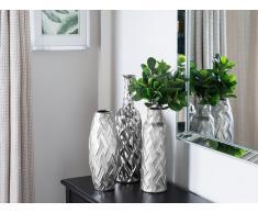 Vaso decorativo in color argento ARPAD