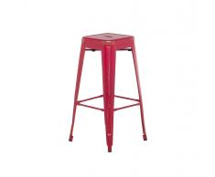 Sgabello da bar in metallo rosso dorato 76 cm CABRILLO