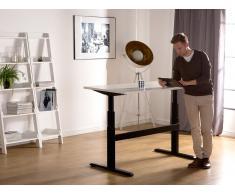 Scrivania altezza regolabile elettronicamente bianca e nera 160x80cm - UPLIFT