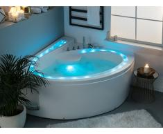 Vasca da bagno bianca con idromassaggio PELICAN