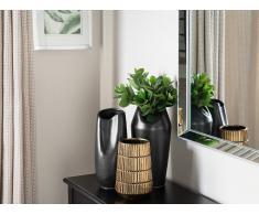 Vaso decorativo color nero DERBE