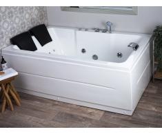 Vasca da bagno con idromassaggio e LED versione sinistra PENSO
