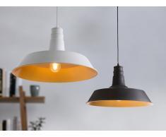 Lampada da soffitto bianca opaca e color oro - BAYOU