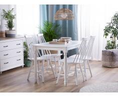 Set di 2 sedie da pranzo in legno bianco BURBANK