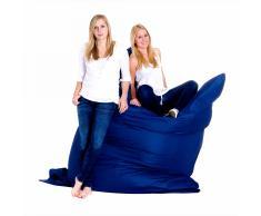 Poltrona sacco impermeabile in poliestere blu scura 180x230cm