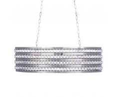 Lampada a sospensione argento/cristallo CAVONE